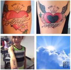 Deux Tattoos pour Andy sur Flavie et Meryl - La Rochelle - Niko Bushman