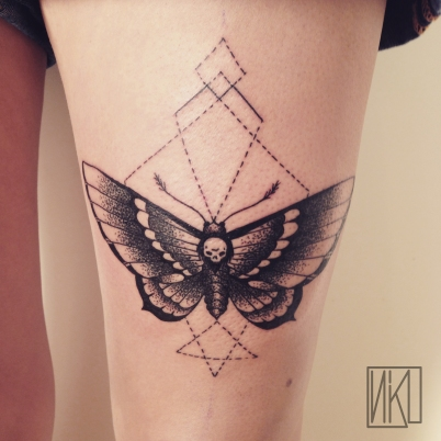 Butterfly Tattoo - Tatouage papillon - La Rochelle - Rochefort Niko Bushman