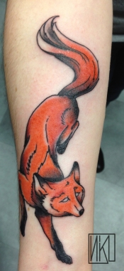 Fox tattoo - Tatouage renard - La Rochelle - Rochefort Niko Bushman